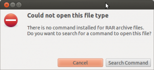 How To Fix: There is no command installed for RAR archive files