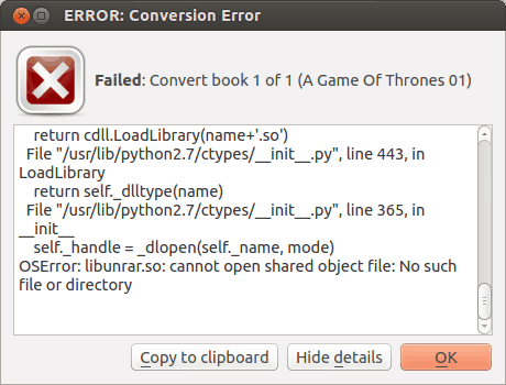 [How To] Fix Conversion Error With Calibre
