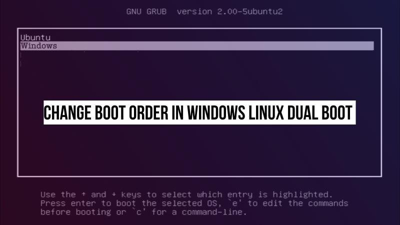 finest selection 3d254 60f20 Use Grub Customizer to Change Boot Order & Make Windows Default