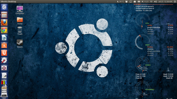 How To Use Conky In GUI in Ubuntu 14.04 With Conky Manager