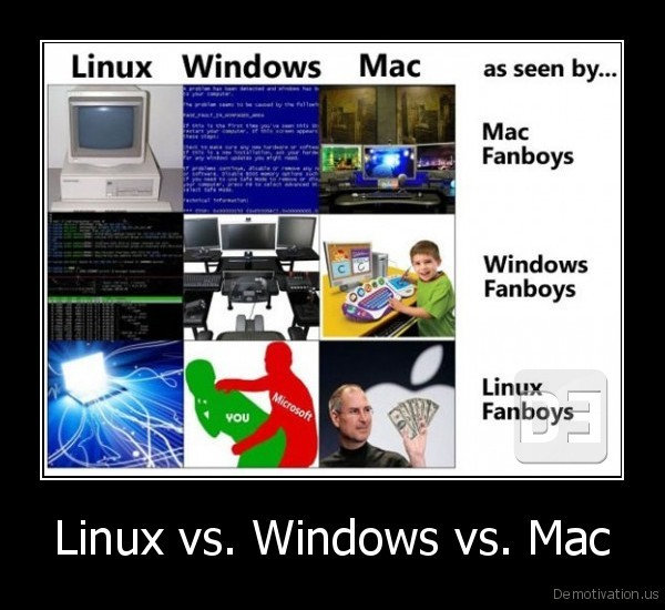 Windows Vs Mac Vs Linux: 10 Funny Jokes In Pictures