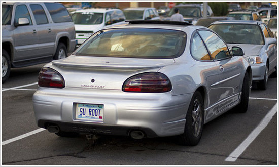 Funny Linux License Plate