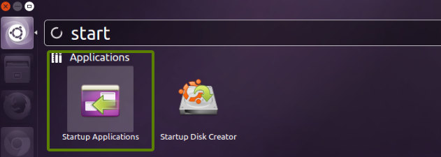 start up application Ubuntu 13.10