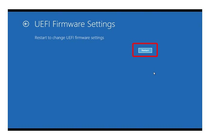 UEFI settings Windows 8.1