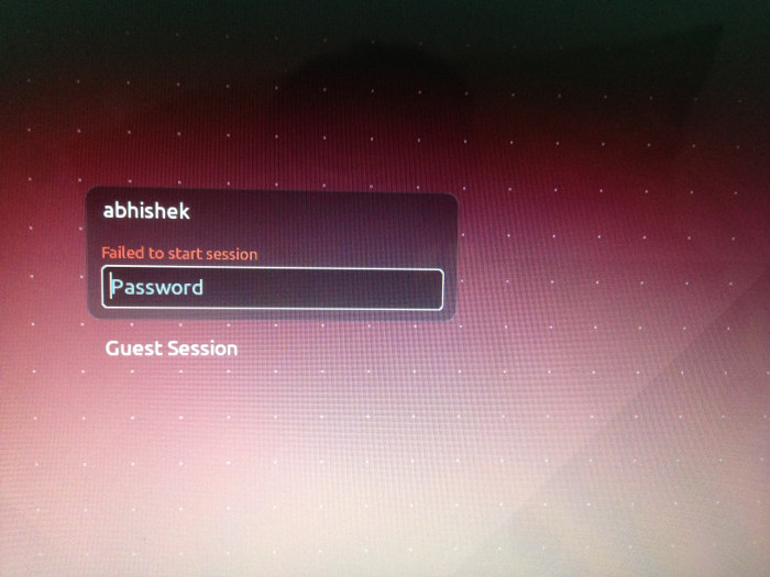 Fix failed to start session error in Ubuntu 14.04