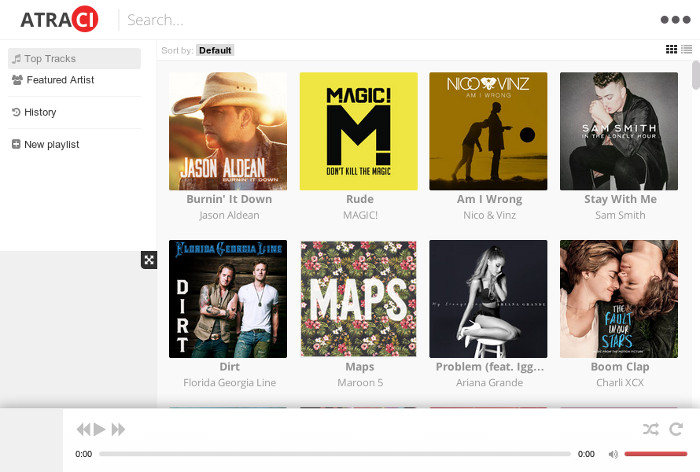 Atraci You Tube Based Music Player