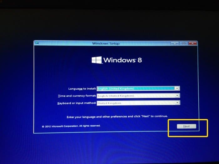 Booting from Windows installation disk