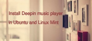 How To Install Deepin Music Player On Ubuntu 14.04 & 14.10