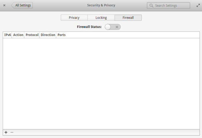 Elementary OS firewall settings