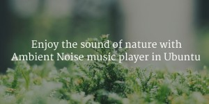 Relax With Natural Sounds By Using Ambient Noise Music Player In Ubuntu