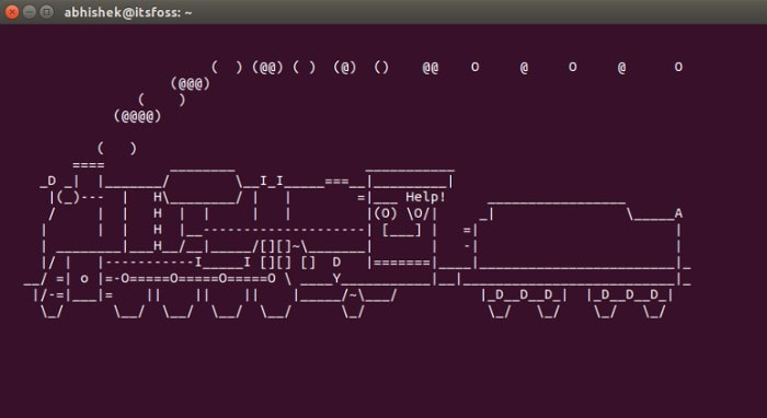 Linux Terminal Train