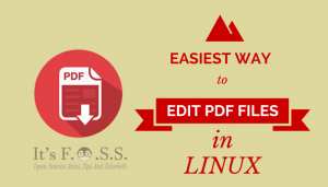 How To Edit PDF Files In Linux In The Easiest Way Possible