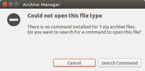 How To Fix: There is no command installed for 7-zip archive files