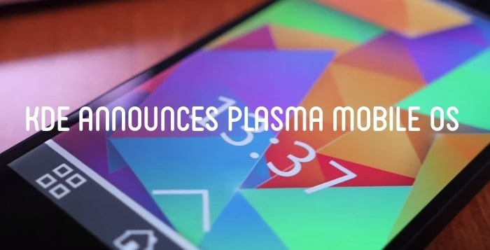 KDE announces Plasma mobile OS