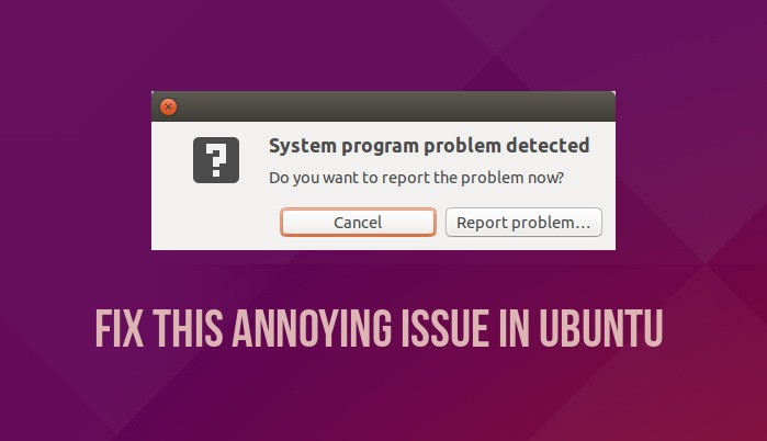 How To Fix System Program Problem Detected In Ubuntu