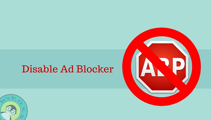 Disable ad blocker on your favorite Linux blog