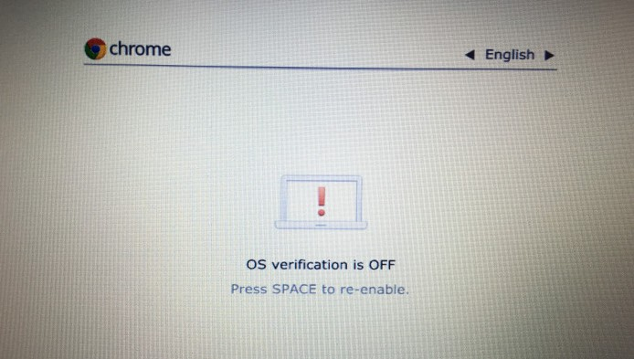 Turned off OS verification