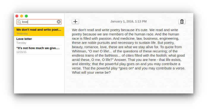 Notes: A Clean Looking Open Source Note Taking App