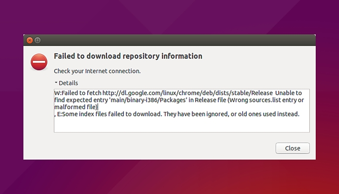 'Failed To Fetch' Error With Google Chrome