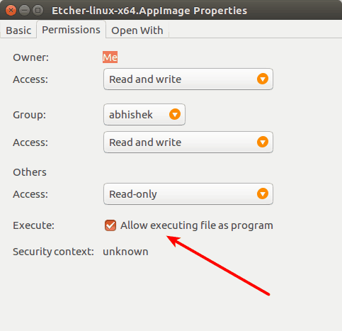 Make program executable in Ubuntu