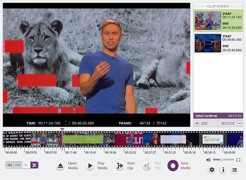 VidCutter video editor for Linux