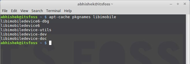 available package details in Linux command line