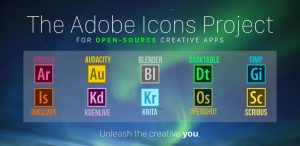 Get Adobe Style Icons For 10 Open Source Creative Apps