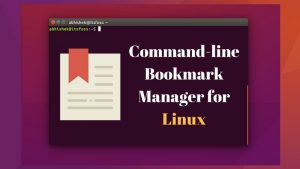 Buku: Command-line Bookmark Manager for Linux