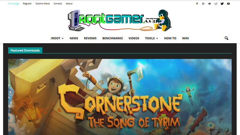 Rootgamer Linux gaming website