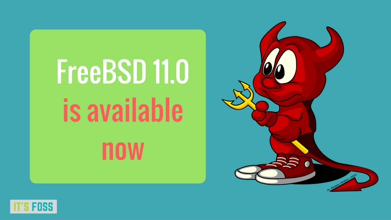 FreeBSD 11.0 released with new features