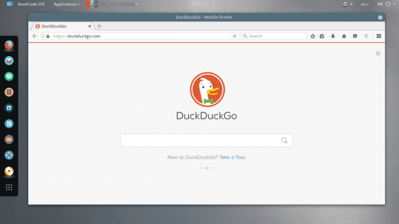 DuckDuckGO as the Default Search Engine in SemiCode OS