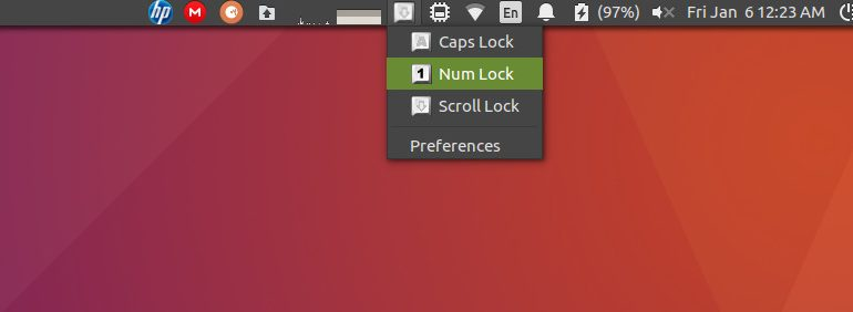key lock indicator - best indicator applets for ubuntu 16.04