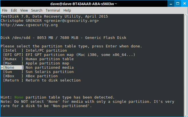 How to recover deleted files in Linux using TestDisk