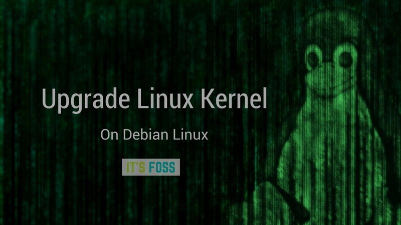 How to upgrade Linux kernel in Debian