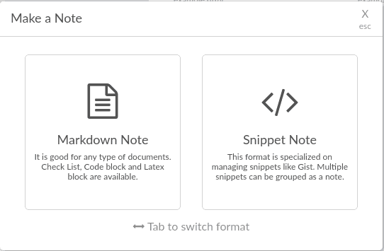 Boostnote markdown and script