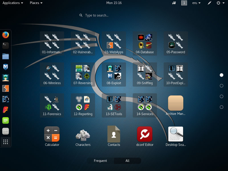 Kali Linux Review: Application Menu