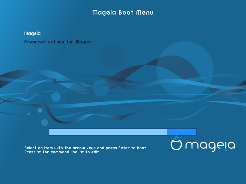 Mageia 6 Boot Screen