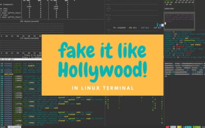 Hollywood hacking terminal in Linux