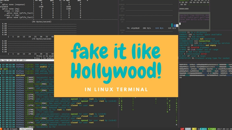 Fake A Hollywood Hacker Screen in Linux Terminal - It's FOSS