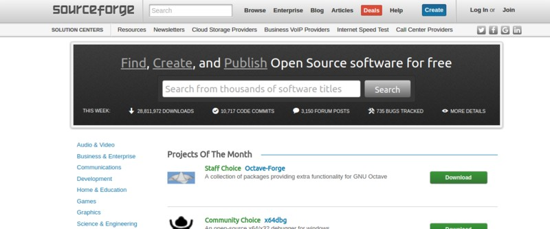 Websites to download free and open source software