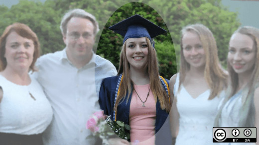 Linus Torvalds with wife and daughters