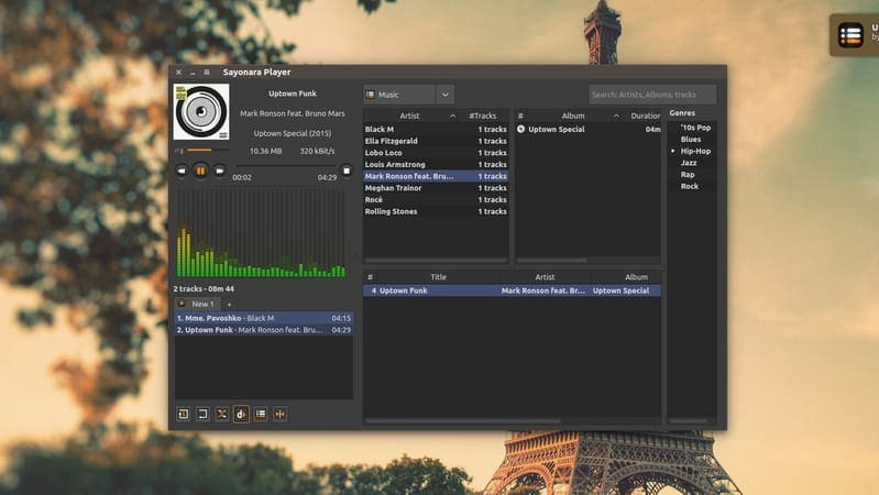 Sayonara is A Beautiful Lightweight Music Player for Linux - It's FOSS