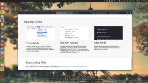 Min: An Open Source Web Browser for Minimalists