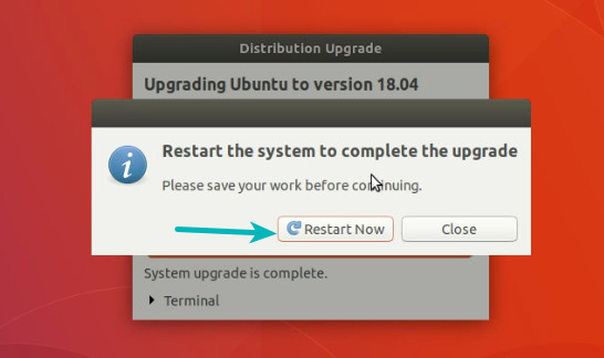 Ubuntu 18.04 upgrade completed
