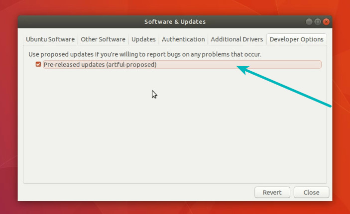 Get notified of beta version in Ubuntu