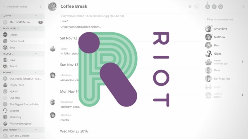 Riot: A Distributed Way of Having IRC and VOIP Client and