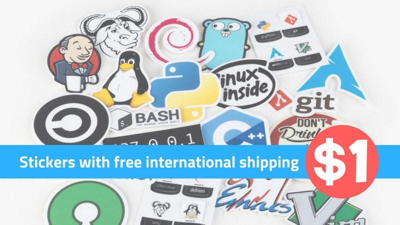Get 13 Linux & Programming Stickers in $1 from Unixstickers