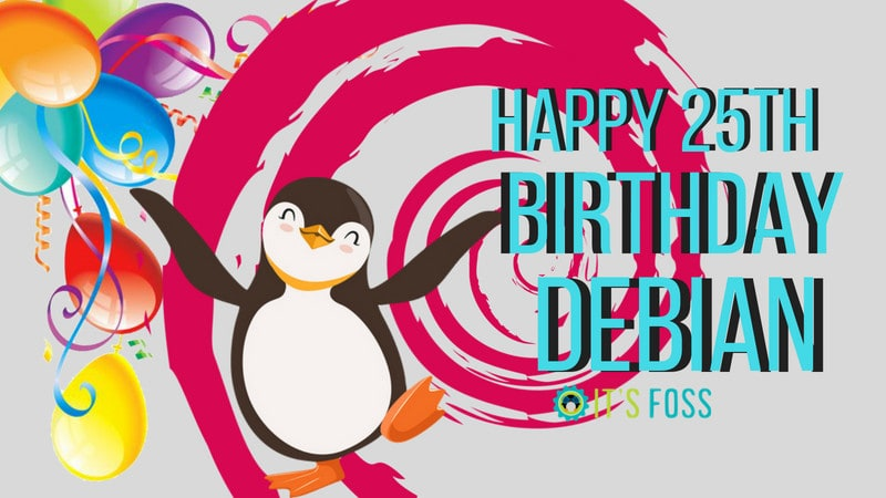 Happy 25th birthday Debian