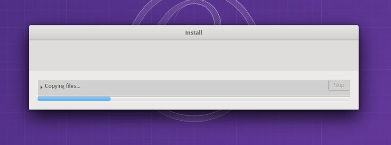 Wait for installation to finish