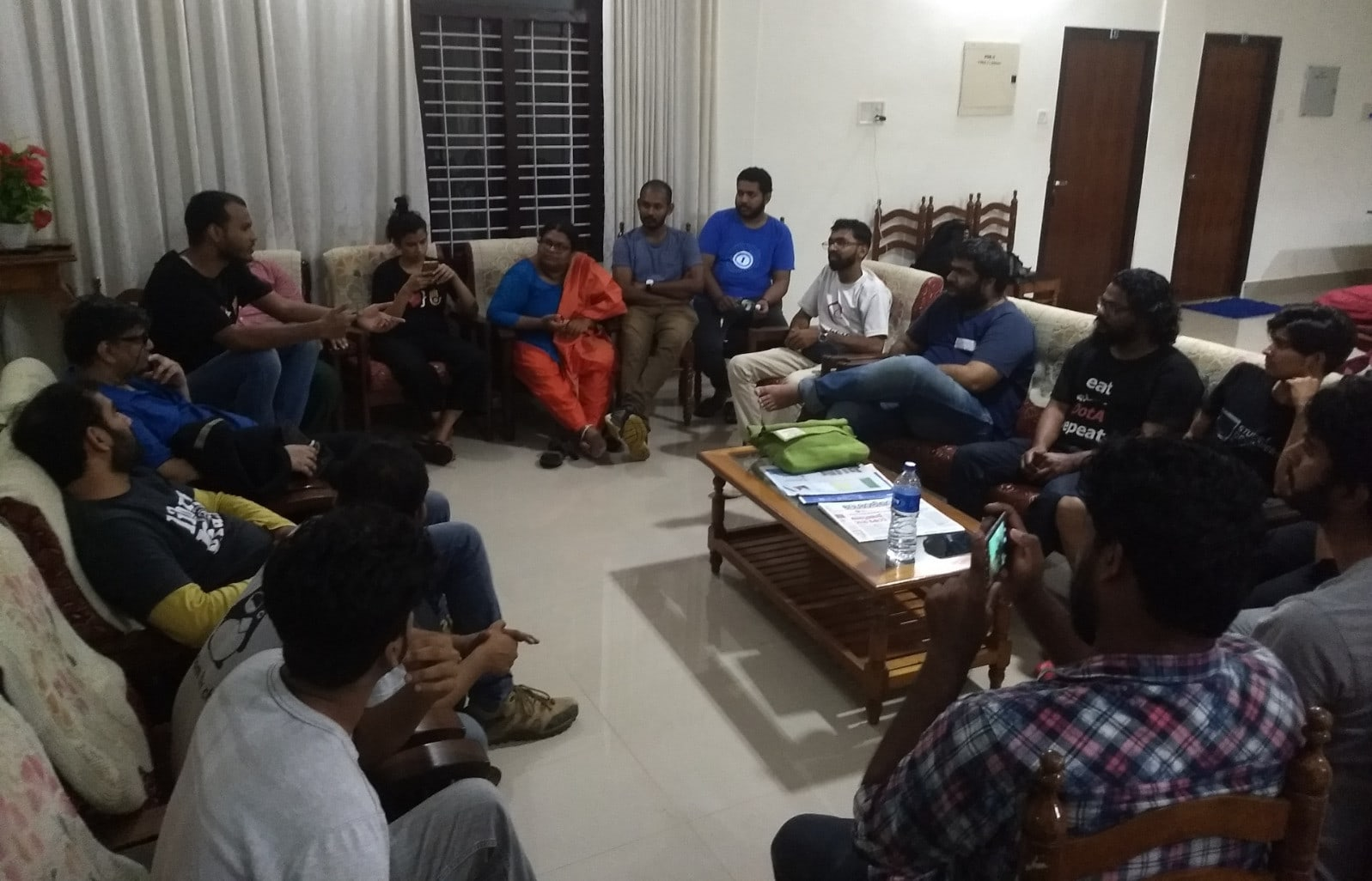 Evening session on 1st evening at CUSAT guesthouse